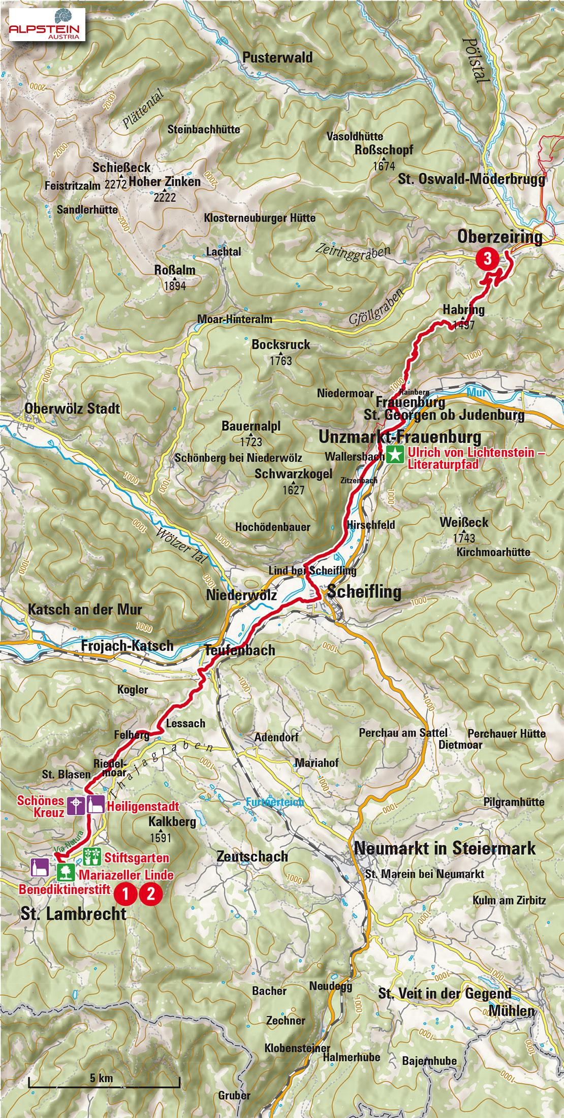 1-Etappe-St-Lambrecht-Oberzeiring_Mariazeller-Gruenderweg_hoch
