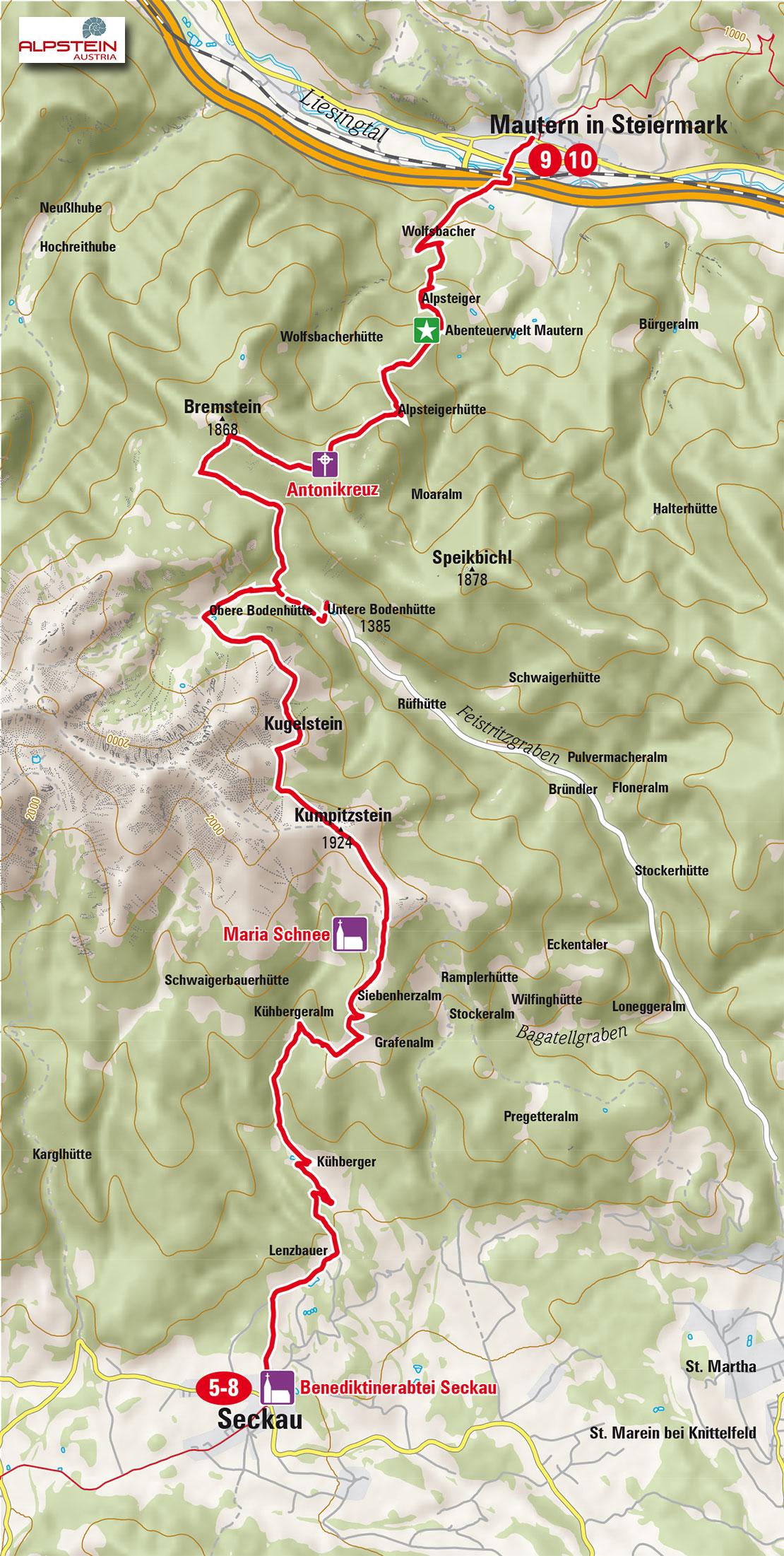 3-Etappe-Seckau-Mautern_Mariazeller-Gruenderweg_hoch